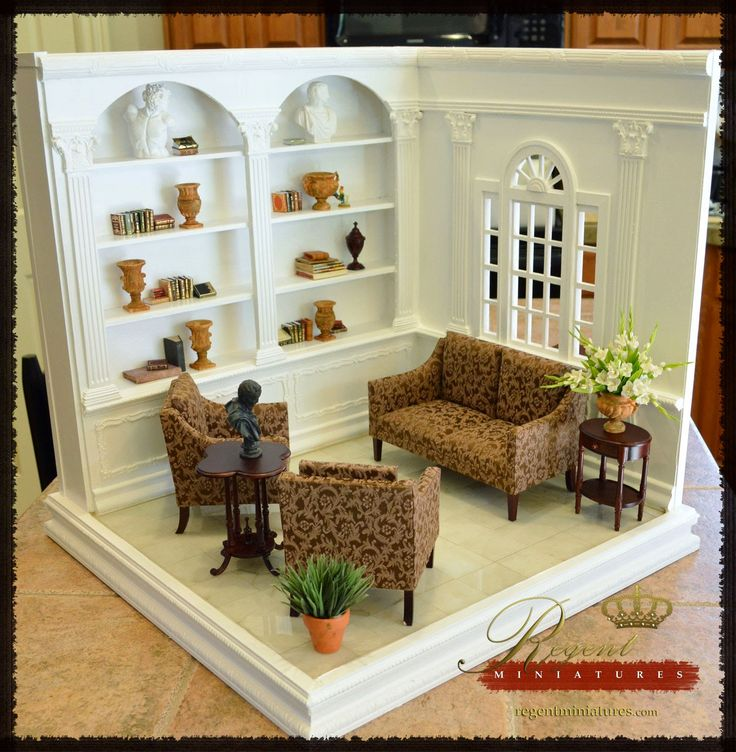 1900 best asian dollhouse images on pinterest doll - Miniature room boxes interior design ...