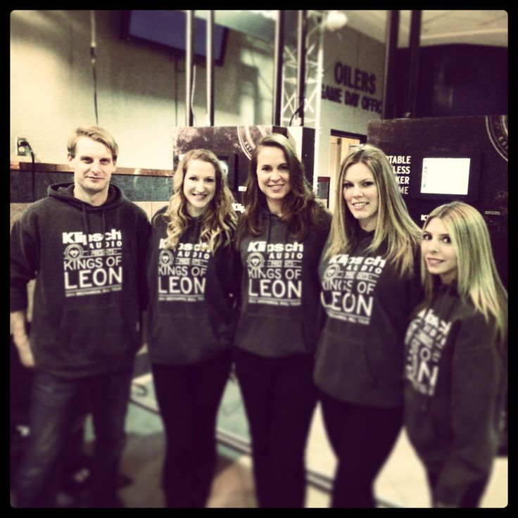 P+ brand ambassadors working the Kings of Leon Canadian tour stop in Edmonton