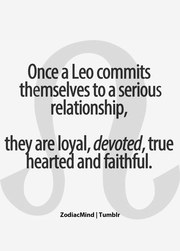 Dating signs leo