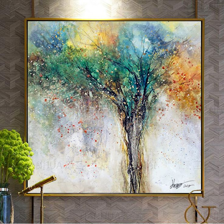 Scandinavian Modern Painting Pure Hand-painted oil painting Canvas Wall Art #Modernism