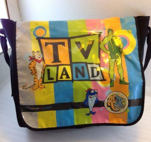 Tv Land Messenger Bag Retromercials Jolly Green Giant Tony Tiger Charlie Tuna