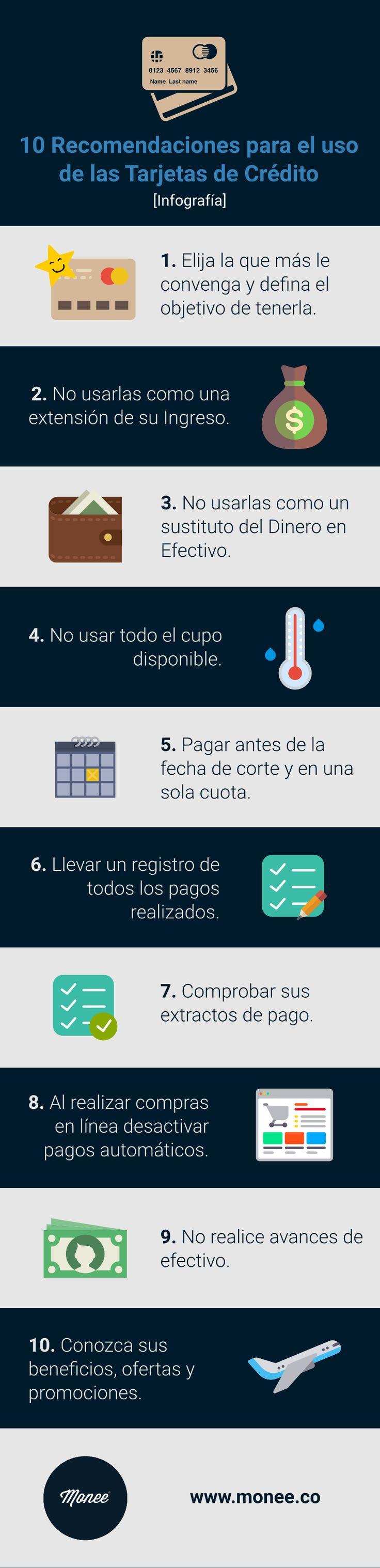 10 Recomendaciones para el uso de las Tarjetas de Crédito.