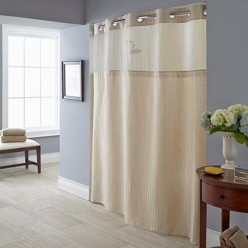 Herringbone 2 Pc Fabric Shower Curtain Liner Set Fabric