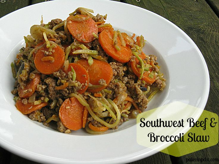 Beef and Broccoli Slaw | Paleo - beef | Pinterest | Broccoli Slaw ...