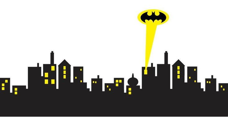 6 sizes - GOTHAM CITY SKYLINE Batman Decal Removable WALL STICKER Home Decor Art