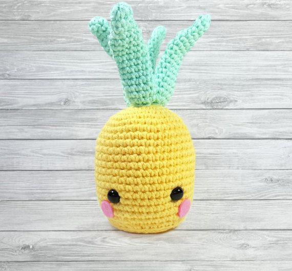 Pineapple Plush Amigurumi crochet cute plushie by ShopWhatknots