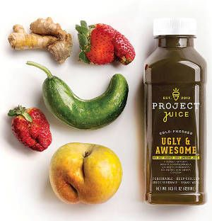 Who would've thought that 1 in 5 fruits and veggies get thrown out because they're ugly?  That's a whole lot of waste! Check out our Spring juice made from 99% ugly produce.
