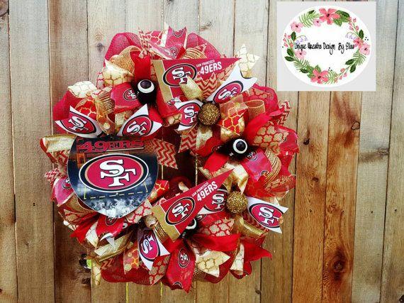 San Francisco 49ers Wreath 49ers Wreath San Francisco Wreath Football Wreath NFL Wreath