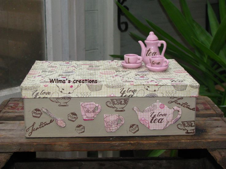 Decoupage, teabox. Wilma's creations