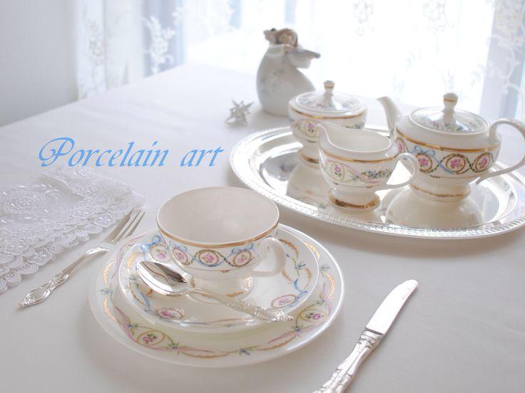 ポーセリン アート  アフタヌーンティーセットのコースです。詳しくはHPをご覧ください。www.lc−hibiki.com