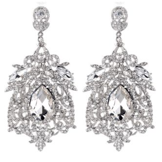 The Aria pageant earring is hand made by The Headshot Collection, an emerging jewelry brand in the pageant industry. This pair of earrings come in a variety of colors, hangs 3 inches from the ear, and is a beautiful piece to complement any pageant outfit.