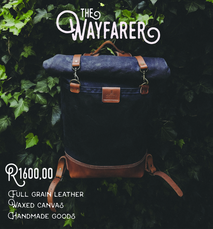The Wayfarer. Waxed canvas exterior. Full grain leather straps and base. The backpack that will accompany any kind of journey. (Available in Navy Blue, Olive Green and Beige)