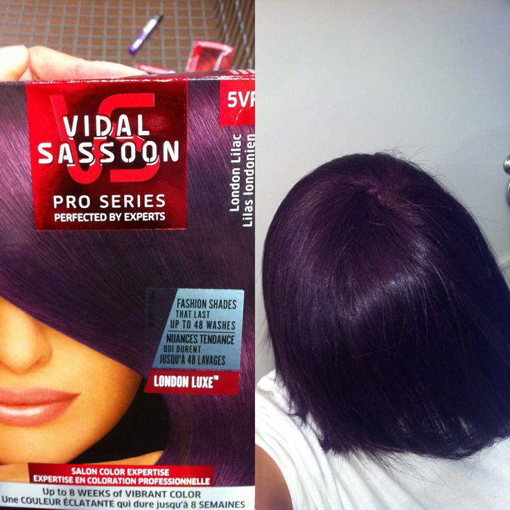 Vidal Sassoon London lilac Purple hair I wanted it to be a. Little more brighter but I guess As it washes and I have to To dye it again it'll lighten up :-) I love it