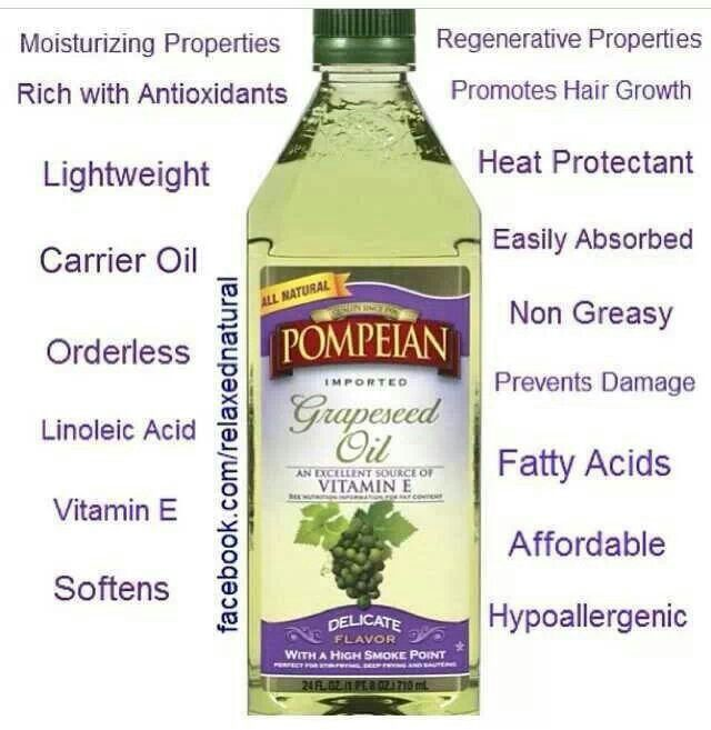 Pompeian Grapeseed Oil For Natural Hair