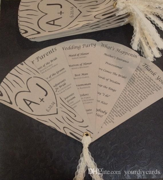 Wedding Fan Program Template quantweb
