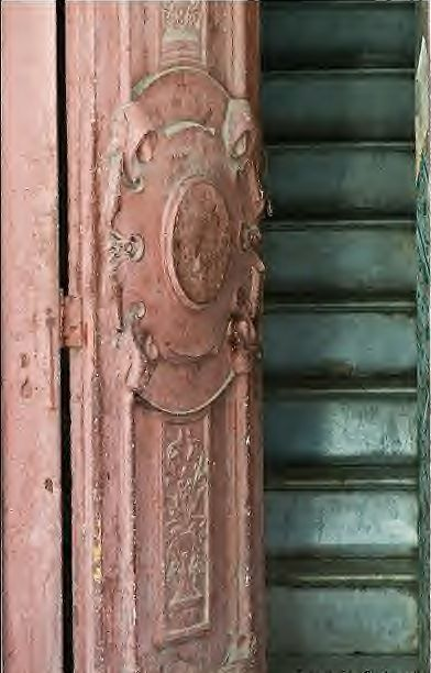 Beautiful old pink doorway
