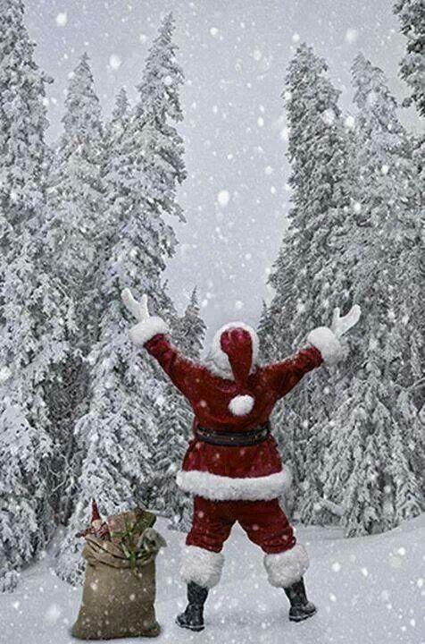 Santa loves snow!