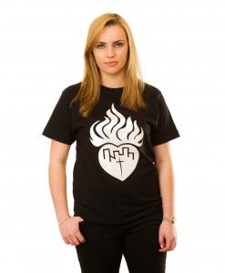 Flaming Heart T-Shirt in Black
