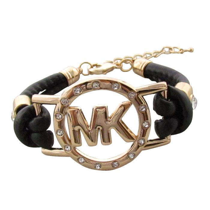 Michael Kors Rhinestone Logo Black Accessories Outlet
