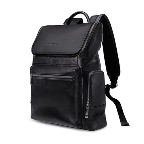 men PADIEOE New Fashion Backpack Genuine Leather Youth Black Luxury Designer Rucksack Unisex Daypack Mochila Masculina