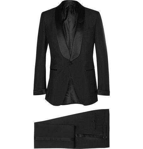 Tom Ford Black Slim-Fit Mohair and Wool-Blend Tuxedo | MR PORTER
