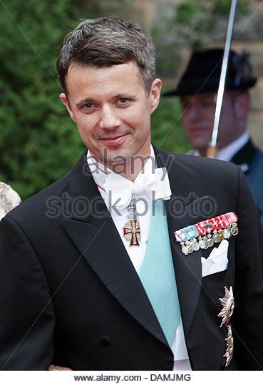 Crown Prince Frederik of Denmark leaves after the religious wedding of Princess Nathalie of Sayn-Wittgenstein-Berleburg and Alexander Johannsmann in Bad Berleburg, Germany, 18 June 2011. The couple had a civil marriage on May 27th, 2010. Photo: Albert Nieboer NETHERLANDS OUT - Stock Image