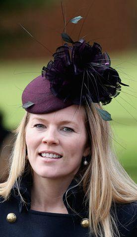 Autumn Phillips, Dec. 25, 2012 in Nerida Fraiman | The Royal Hats Blog