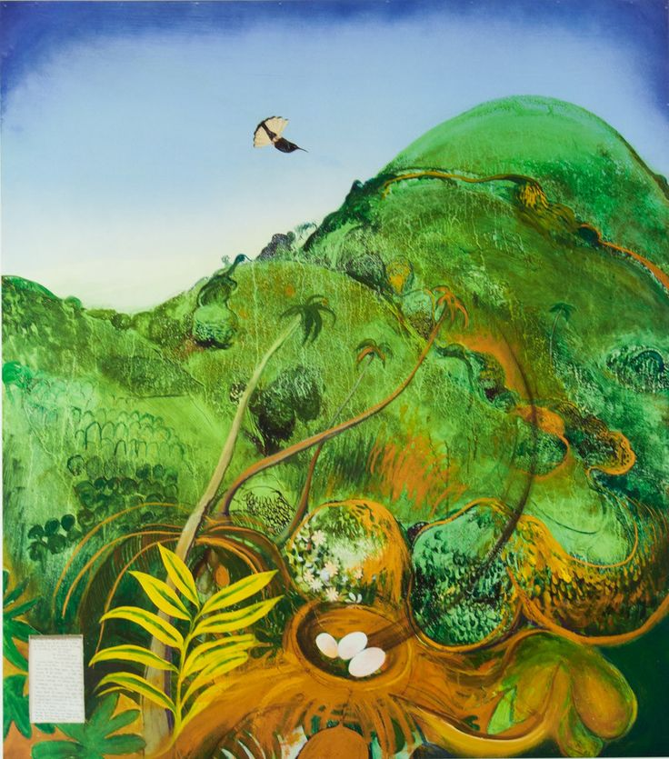 Brett Whiteley 'The Green Mountain (Fiji)' - Reproduction print on paper