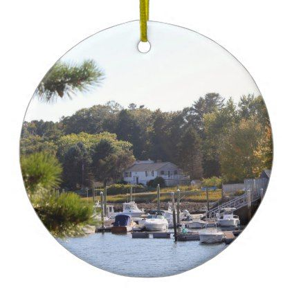 Boat Marina 7322 Ornament - diy cyo customize create your own #personalize