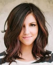 Image result for shoulder length haircuts with layers and side swept bangs
