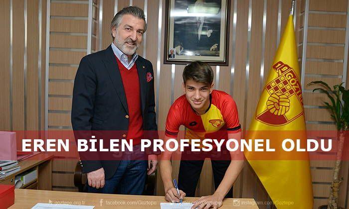 Altyapımızdan yetişen, bir süredir A takımımızla antrenmanlara çıkan ve U21 Takımımızın da kalesini koruyan 2000 doğumlu genç oyuncumuz Eren Bilen ile 2,5 yıllık sözleşme imzaladık.  http://www.goztepetv.com/2016/11/goztepe-de-eren-bilen-profesyonel-oldu/  #Göztepe #ErenBilen