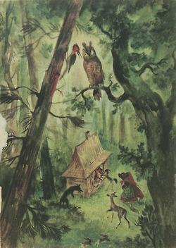 azurea:    Illustration by Jan Marcin Szancer for Brzechwa Dzieciom, 1955.
