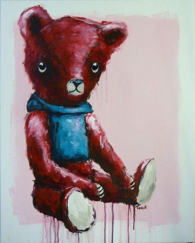Still life with Red Bear 75cm x 60cm Seabastion Toast