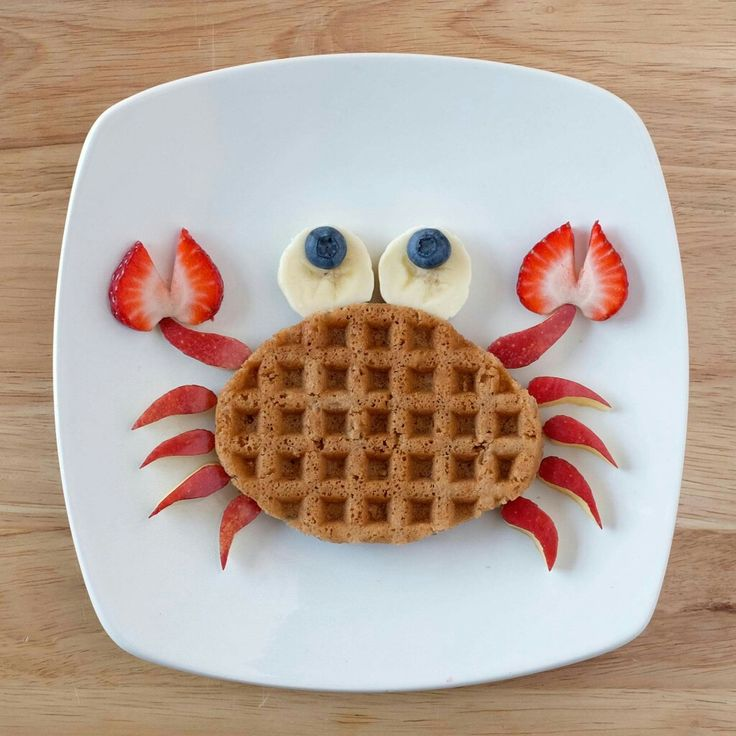 Summer breakfast! Waffle, cut apple pieces, strawberries, bananas, blueberries. TADA