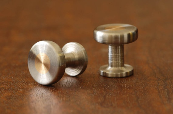 handmade brass and steel cufflinks by Killstress Designs $45.00