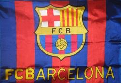 La bandera oficial del Barça, el Fútbol Club Barcelona, la bandera de Lionel Messi, Carles Puyol y Alexis Sanchez. $21.00