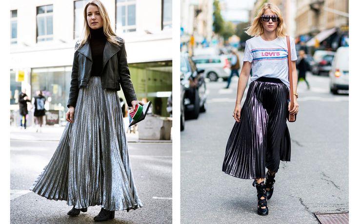 Dallo street style alle passerelle: va di moda la gonna lunga e plissettata. Perfetta per chi ama un look casual-chic