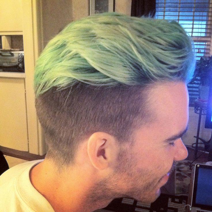 Mint Haircolor Men's Hair Undercut