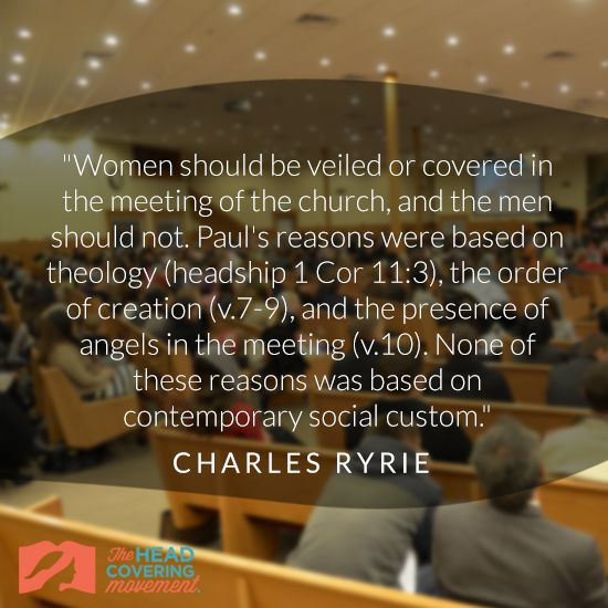 Charles Ryrie Quote Image #3 | The Head Covering Movement
