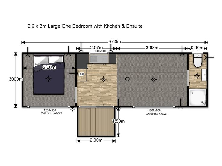 House Me :: Large One Bedroom with Kitchen & Ensuite