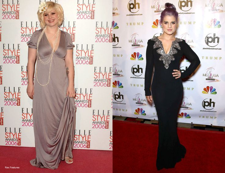 Kelly Osbourne - Before and After    Kelly's slimline transformation still amazes us and she's sustained her petite figure for five years now when the 'before' picture was taken. The jury is still out on the purple hair though.