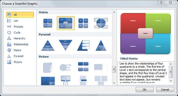 How to make a SWOT Diagram in PowerPoint using SmartArt and Shapes - smartart powerpoint template