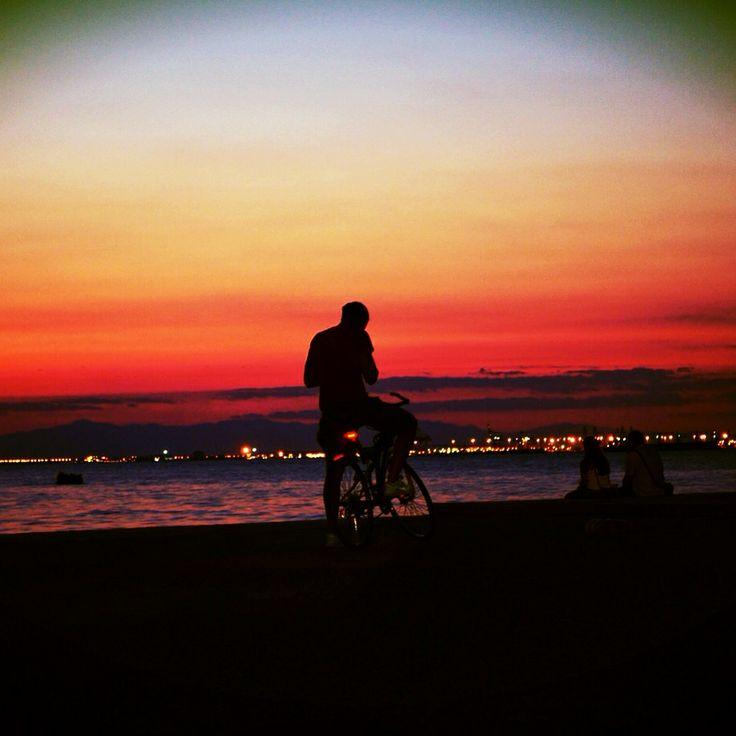 Sunset in Thessaloniki.