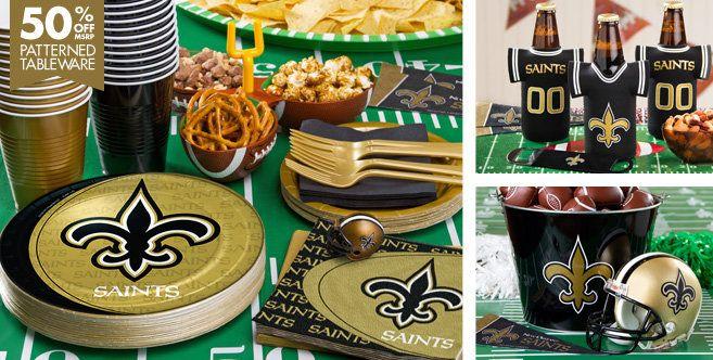 NFL New Orleans Saints Party Supplies - Party City #teamKS #kendrascott