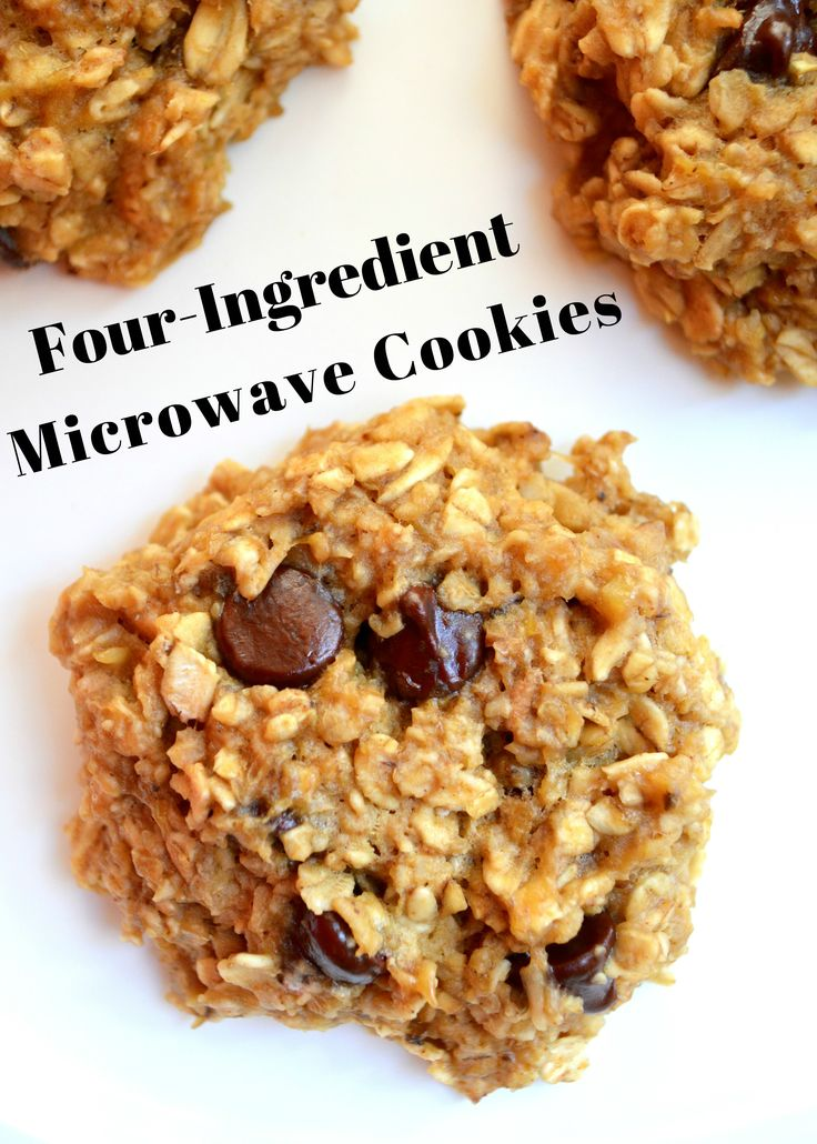 flourless oatmeal chocolate chip cookies in the microwave- I use TJ's GF oatmeal