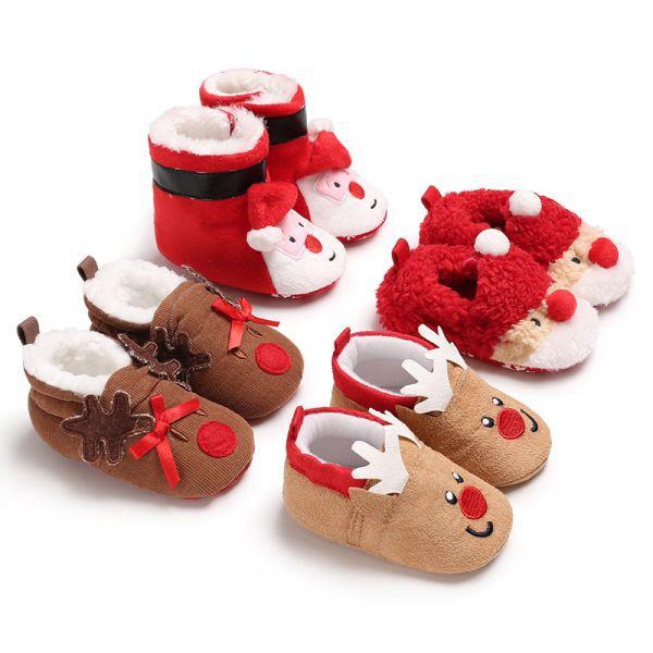 Baby shoes Boy Girl christmas elk deer