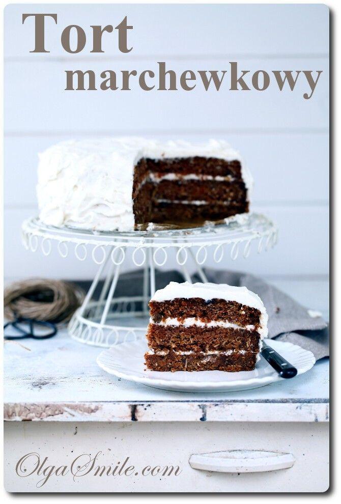 Wegański tort marchewkowy - Olga Smile