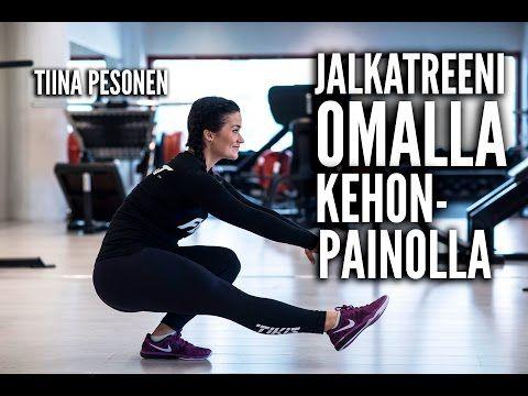 Jalkatreeni omalla kehonpainolla - Tiina Pesonen (VIDEO) | Tikis.fi