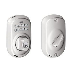 Schlage BE365 PLY 625 Plymouth Keypad Deadbolt, Bright Chrome by Schlage Lock Company. $110.14. Amazon.com                   Experience the Freedom of Keyless Convenience  No more hiding keys under the doormat. No more losing, forgetting, or making extra keys time and time again. Step up to a more secure and flexible solution with a Schlage Residential Keypad Deadbolt. Install a new keypad deadbolt yourself--with nothing more than a screwdriver. You're free to add, change, ...