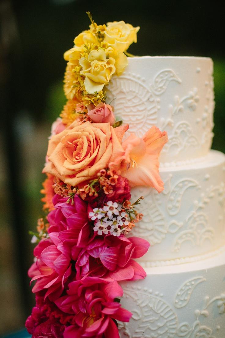 ombre henna cake